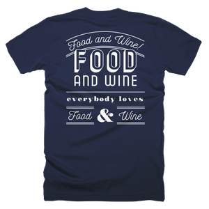 Food and Wine Short-Sleeve Unisex T-Shirt