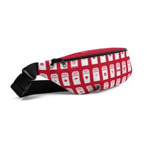 My Favorite Table Red Fanny Pack