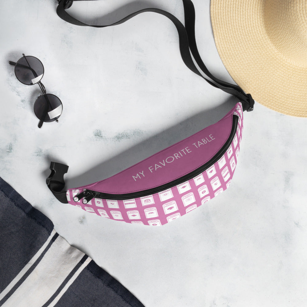 My Favorite Table Pink Fanny Pack