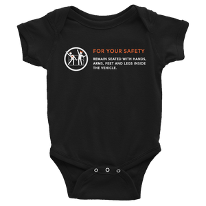 For Your Safety Black Infant Bodysuit