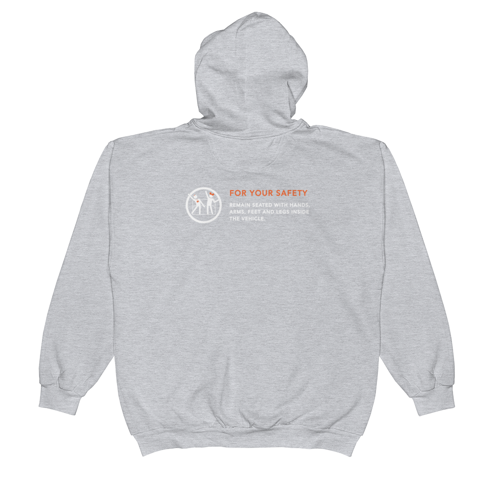 For Your Safety Unisex Zip Hoodie
