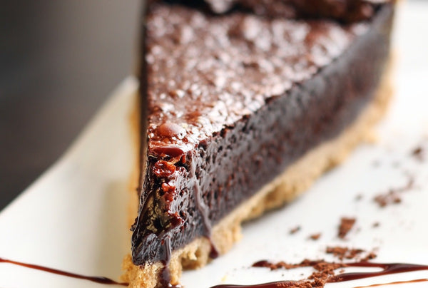 Plant-Based Chocolate Pie with Gluten-Free Peanut Crust