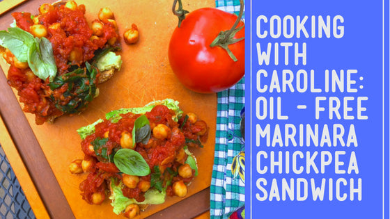 Oil-Free Marinara Chickpea Avocado Sandwich Recipe