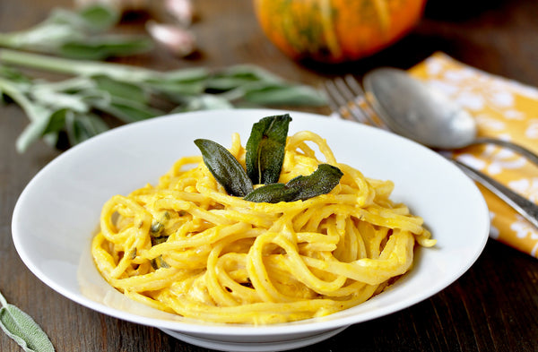 Dairy-Free  Butternut Squash and Sage Creamy Pasta Recipe