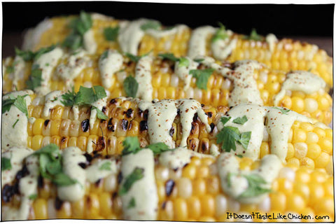 Creamy Cilantro Lime Corn from It Doesn't Taste Like Chicken