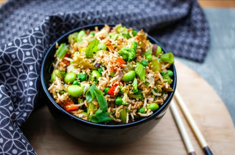 oil free fried rice