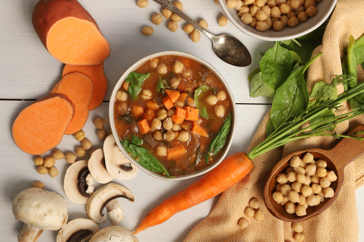 Mushroom Chickpea Stew ($6.00/serving)