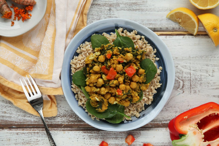 MamaSezz Chickpea Turmeric Scramble plant based meals