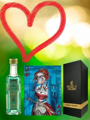 Absinthe makes the heart grow fonder (puzzle + absinthe + gift box)