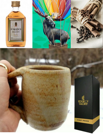 Reindeer? No, Moose, dear! (puzzle + brandy + spices + gift box)