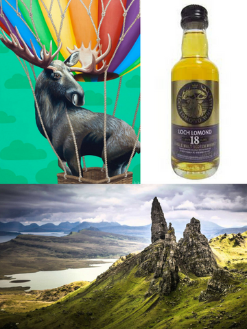 This Moose comes with Scotch old enough to order its own Scotch! (puzzle + 18yr single malt + gift box)
