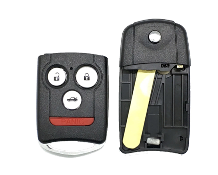 ACURA 2007 - 2014 Remote Flip Key SHELL 4-Btns (Trunk) High Security REPLACEMENT