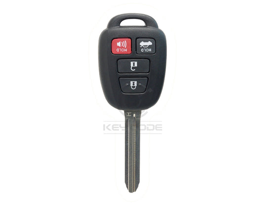 "TOYOTA Camry Corolla 2014-2018 Remote Key 4-Btns (Trunk - Chip: ""H"") / HYQ12BDM"