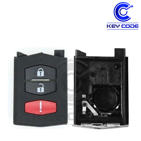 MAZDA 2006-2012 Remote Flip Key SHELL 3-Btns
