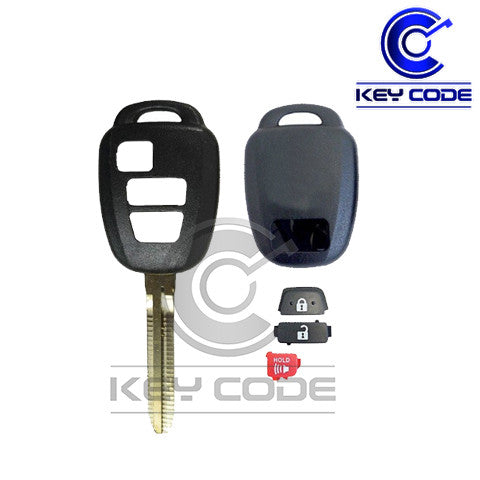 TOYOTA 2012-2015 3-Button Remote Head Key SHELL Case - Key Code USA
