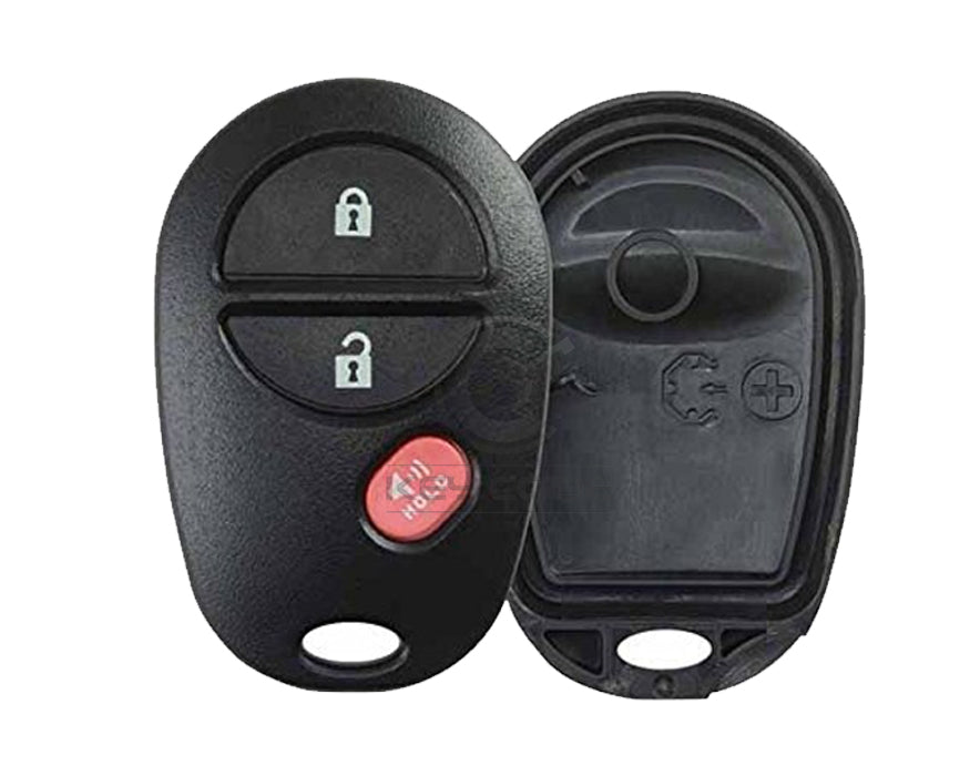 REPLACEMENT TOYOTA 2004-2013 3-Button Keyless Entry Remote SHELL