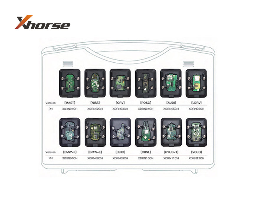 XHORSE RENEW EEPROM ADAPTERS for VVDI Key Tool (12 Pcs) TYPE A 1-12