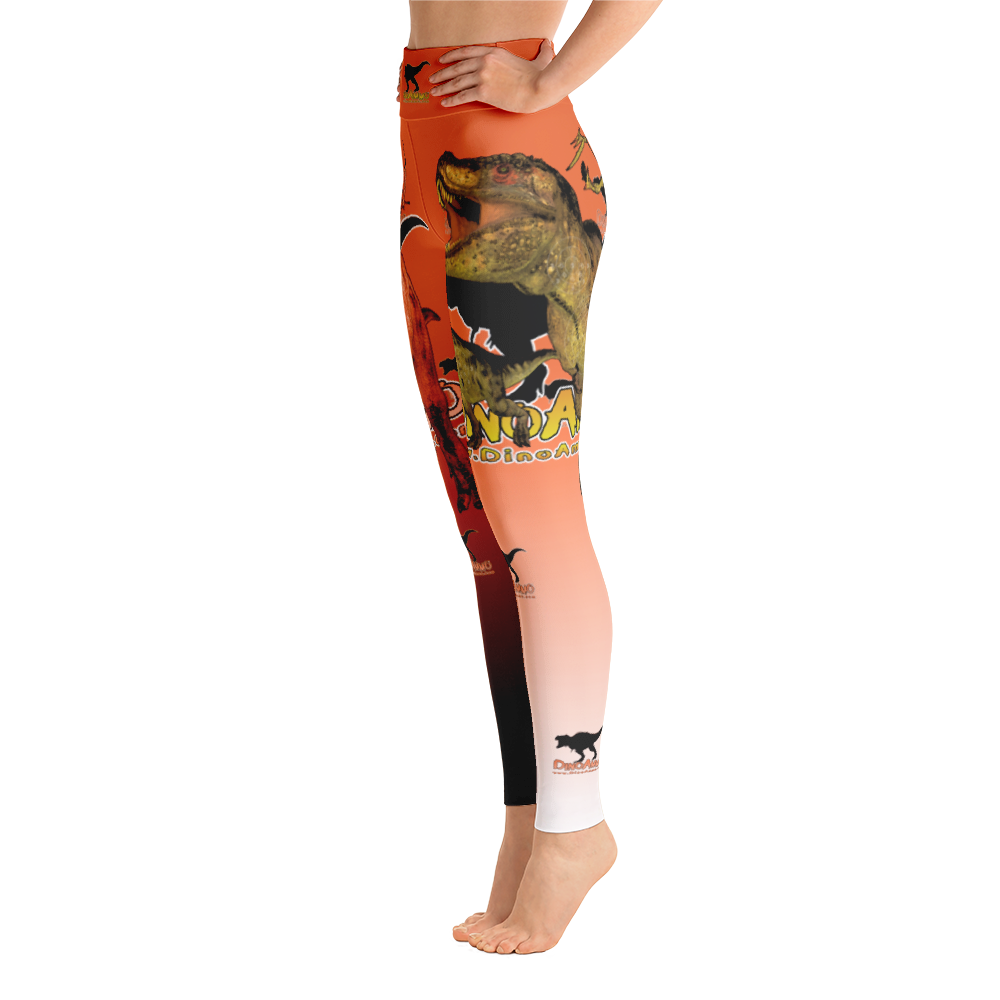 Dino Ammo T-Rex Orange Yoga Leggings