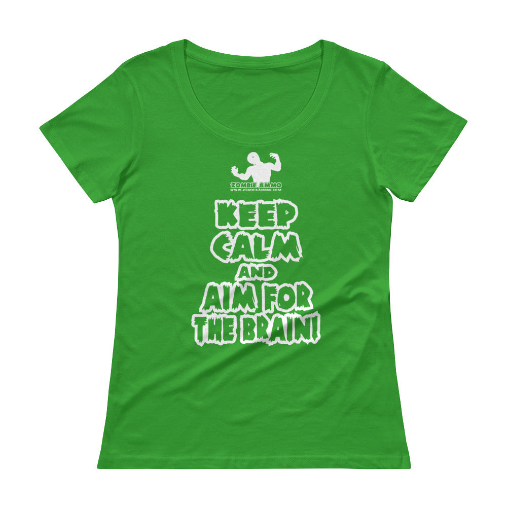 Zombie Ammo Keep Calm W Ladies' Scoopneck T-Shirt