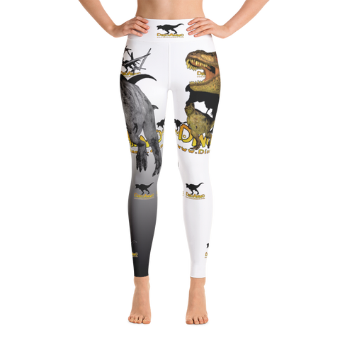 Dino Ammo T-Rex White Yoga Leggings