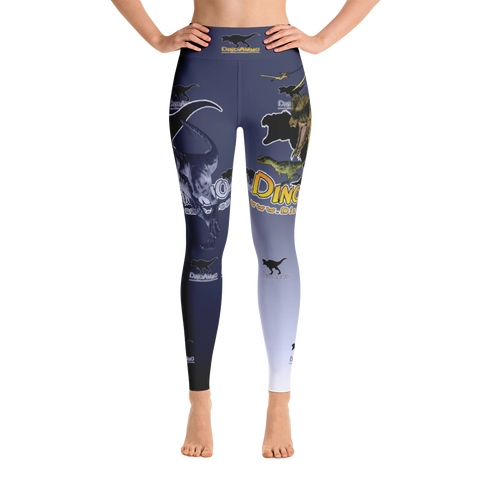 Dino Ammo Dilophosaurus Blue Yoga Leggings