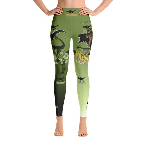 Dino Ammo Dilophosaurus Green Yoga Leggings