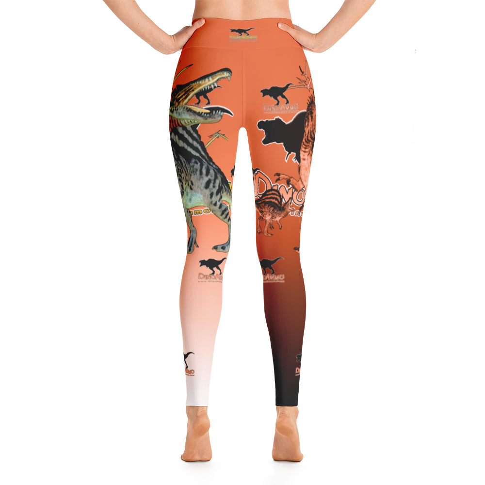 Dino Ammo Spinosaurus Orange Yoga Leggings