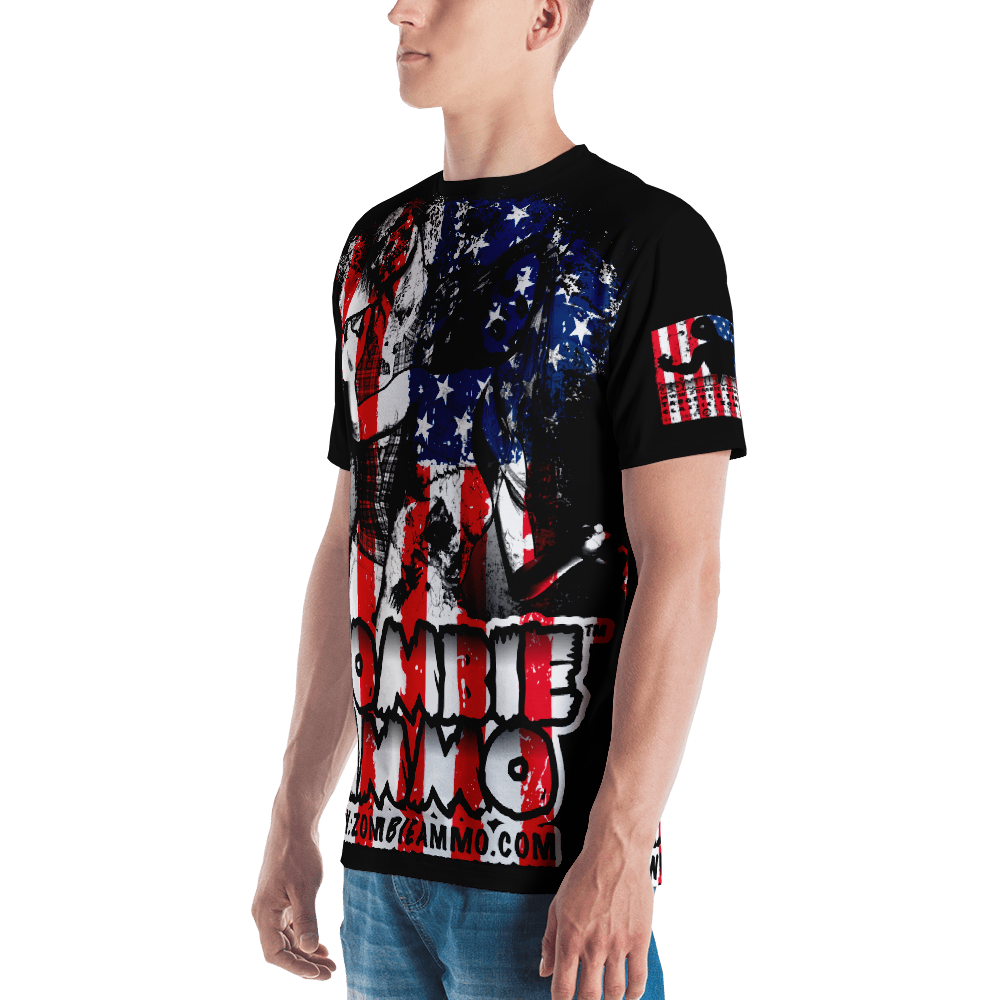 Zombie Ammo Classic Patriot All-Over Men's T-shirt