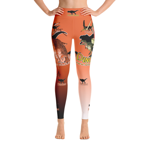 Dino Ammo Tarosaurus Orange Yoga Leggings