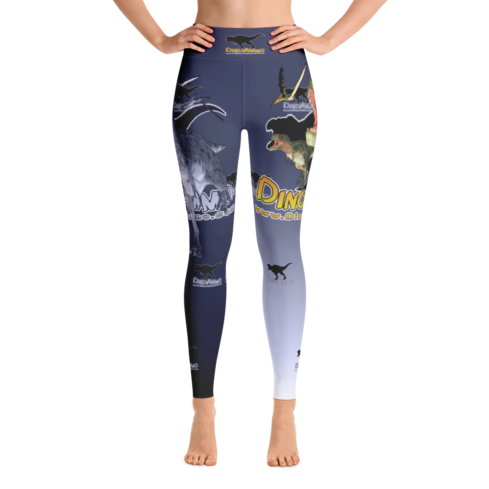Dino Ammo Tarosaurus Blue Yoga Leggings