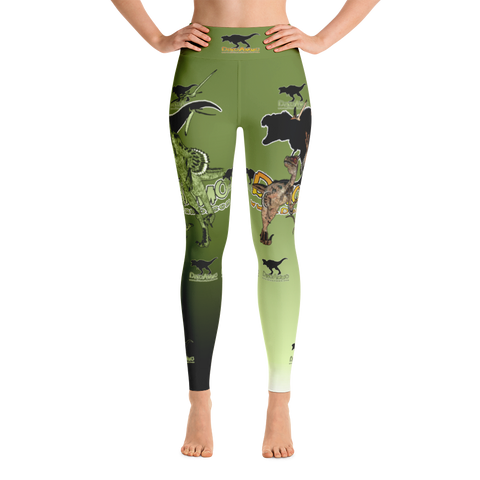 Dino Ammo Velociraptor Green Yoga Leggings