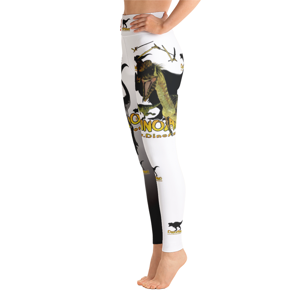 Dino Ammo Dilophosaurus White Yoga Leggings