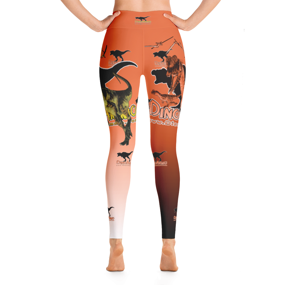 Dino Ammo Dilophosaurus Orange Yoga Leggings