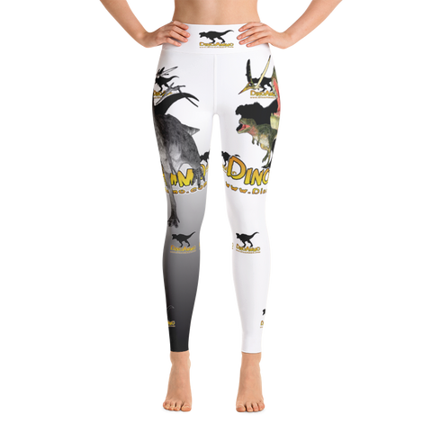 Dino Ammo Tarosaurus White Yoga Leggings