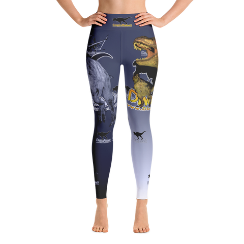 Dino Ammo T-Rex Blue Yoga Leggings
