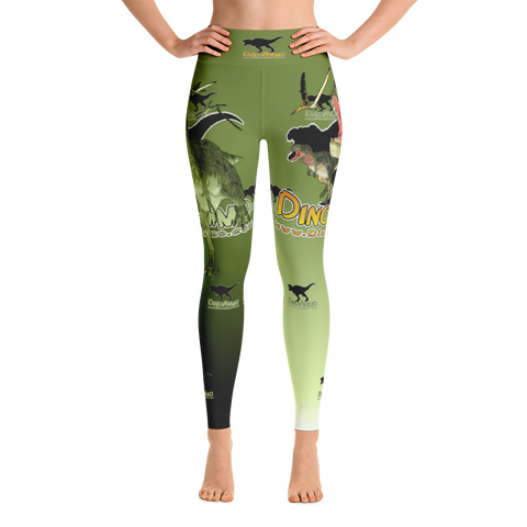 Dino Ammo Tarosaurus Green Yoga Leggings