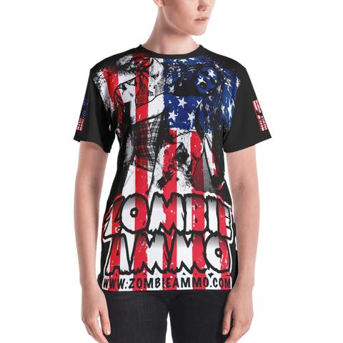 Zombie Ammo Classic Patriot All-Over Women's T-shirt