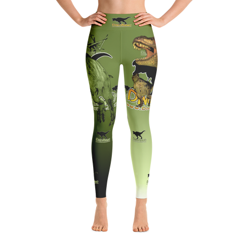 Dino Ammo T-Rex Green Yoga Leggings