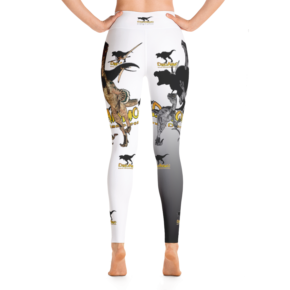 Dino Ammo Velociraptor White Yoga Leggings
