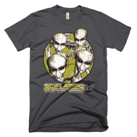 SciFi Ammo Alien Invasion Full Color Short sleeve men's t-shirt