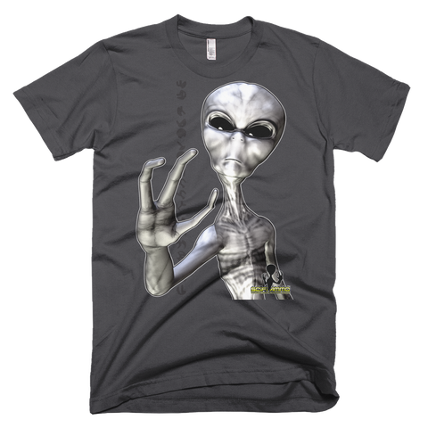 SciFi Ammo Grey Alien 01 Full Color Short sleeve men's t-shirt