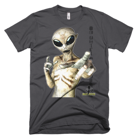 SciFi Ammo Grey Alien 02 Full Color Short sleeve men's t-shirt