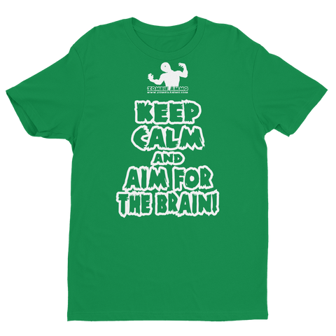 Zombie Ammo Keep Calm W Short Sleeve T-shirt