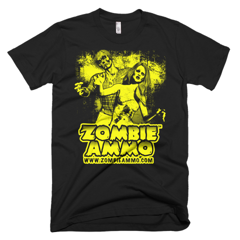 Zombie Ammo Classic Yellow Short sleeve men's t-shirt