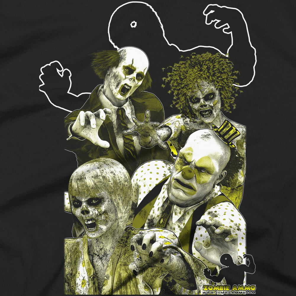 Zombie Ammo Clown Zombies Duotone Short sleeve men's t-shirt
