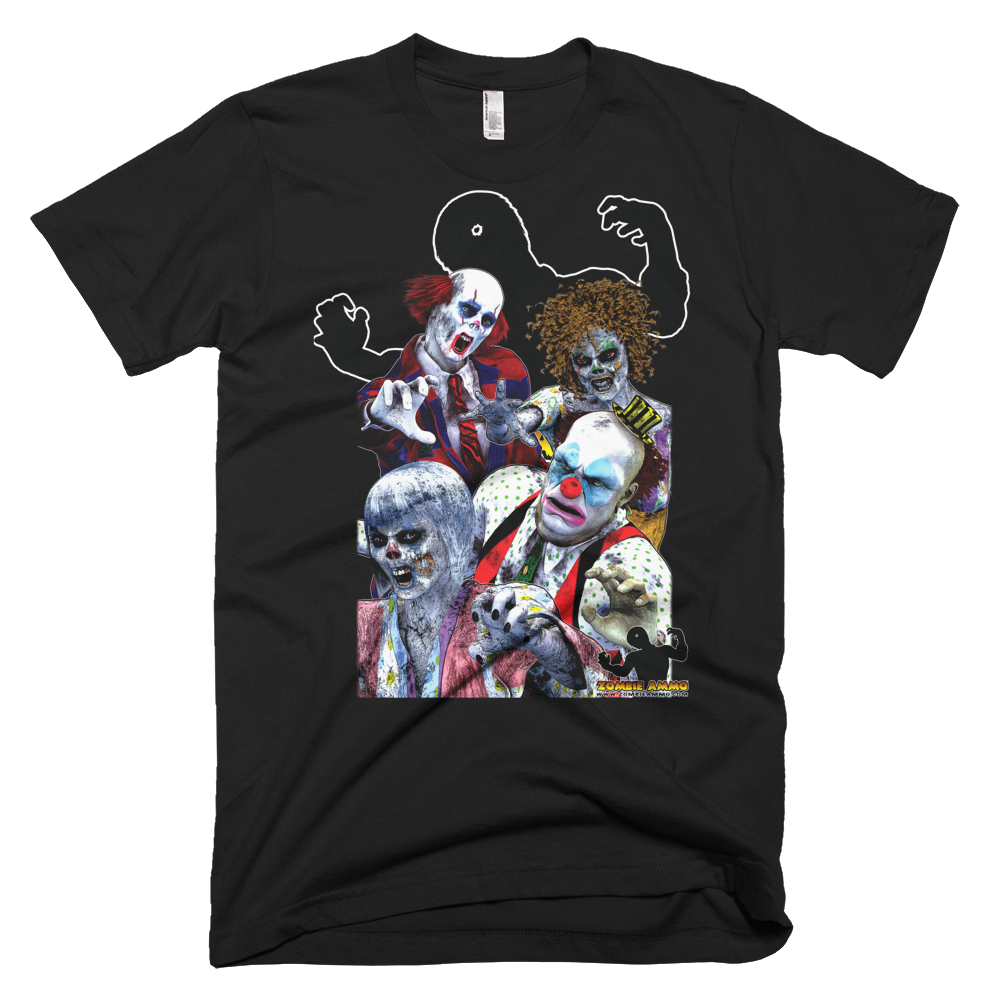 Zombie Ammo Clown Zombies Full Color Short sleeve men's t-shirt