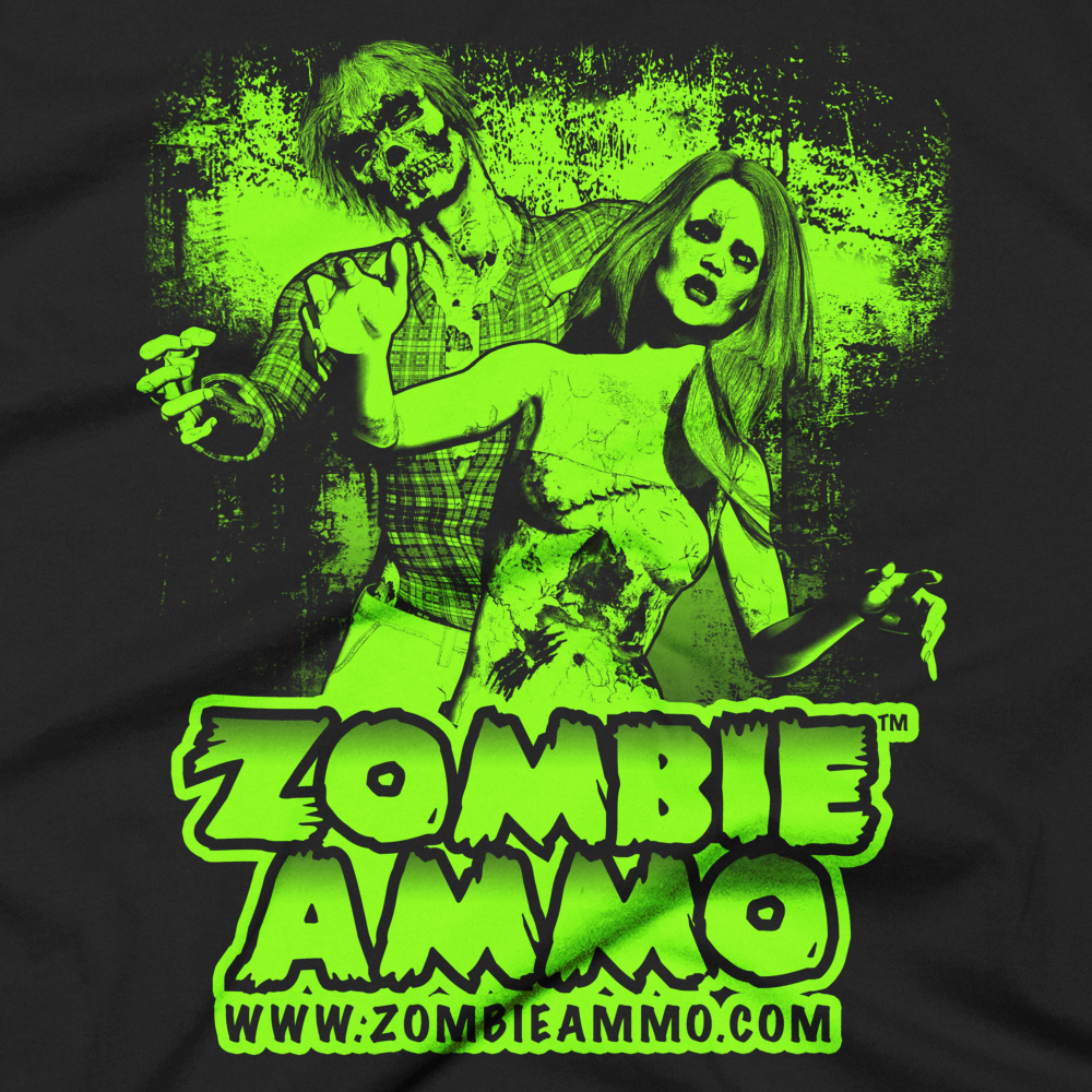 Zombie Ammo Classic Green Short sleeve men's t-shirt