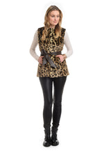 Load image into Gallery viewer, FF19-40L Belted Leopard Vest