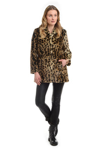 FF19-47L Notch Leopard Coat