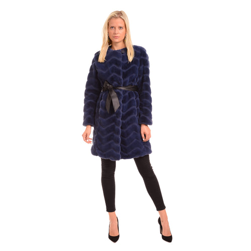 FF19-46 Chevron Belted Coat